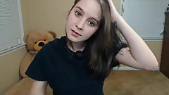 teen cutey deepthroat and cumshow with nipple clamps