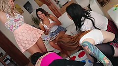 Twister Party at Sandra´s place lots of upskirts panties and no panties