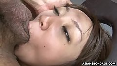Kinky brunette Ryo Akanishi can't stop moaning while getting hammered
