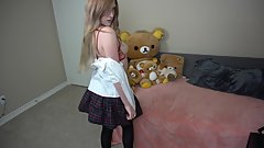 Sexy Schoolgirl and Lingerie Strip Tease Dance