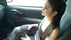My Brother's German Girlfriend with Big Tits Sucks My Cock In Car