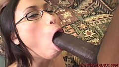 Young Asian Sakura pounded by monster black cock at InterracialPass