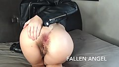HORNY TEEN EAGERLY FUCKS HER HAIRY ASS WITH HUGE BBC