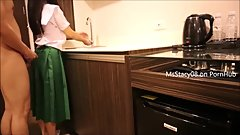 Pinay Teen Student Fucking In The Kitchen - Amateur MsStacy08