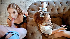 FamilyStrokes - Sucking My Stepdad for Cash