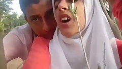 Arab Hijab Slut Fucked by Kafir in Woods