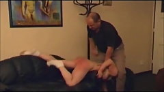 czech angry dad punished bad daughter